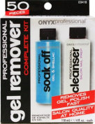 Onyx Professional Nail Polish Remover Kit - Kit includes Gel & Shellac Nail Polish Remover, Nail Cleanser, Foil Wraps, Sanding Blocks & salon Wipes