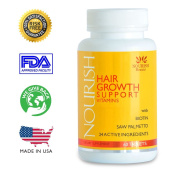 Nourish Beaute Hair Loss Vitamins - Thick Gorgeous Hair in 30 Days. With Biotin and 23 Vitamins and Herbs. The All Natural Way to Love Your Hair Again
