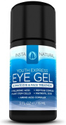 Eye Cream for Wrinkles, Dark Circles, Puffiness, Fine Lines, and Bags - The BEST 100% Natural Anti-Ageing Gel With Hyaluronic Acid, Organic Jojoba Oil, MSM, Peptides & More! - For Men & Women of ALL Skin Types - 15ml Travel Size