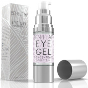Beneleaf's Eye Cream for Dark Circles & Bags Under Eyes; Best Hypoallergenic Eye Gel Concentrate with Stem Cells, Hyaluronic Acid & Peptides- All Natural - 30ml/1oz.