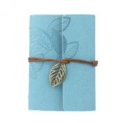 Coromose® Vintage Leaf Leather Cover Loose Leaf Notebook Journal Diarybook
