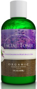Facial Toner - Organic & 100% Natural Ingredients - Best for All Skin Types - Calming, Clearing, Restores pH Balance, Refines, Tightens Pores - Hydrates, Soothes, Revives, Rejuvenates Face and Décolleté - Reduces Puffiness, Inflammation and Redne ..