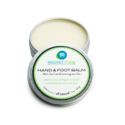 Natural Hand and Foot Repair Balm for Athletes. Perfect for Dry Cracked Heels From Running and Hiking, and for Moisturising Dry, Split, Chapped and Damaged Hands From Rock Climbing and Exposure to the Elements. With Tea Tree and Lemongrass Oils. A Litt ..