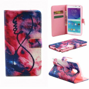 Sannysis Unique Flip Leather Case Cover For Samsung Galaxy Note 4