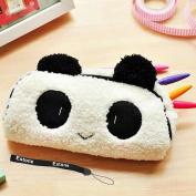 Estone New Cute Soft Plush Panda Pencil Pen Bag Case Cosmetic Makeup Pouch Bag