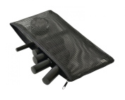 Make Up Bag Pencil Case - Girls & Women Will Love It - a Breathable, Strong Mesh Vinyl Black See Through Material - Keeps All Your Brushes, Accessories Dry & Airy - Find What You Need Instantly Without Emptying Out Everything