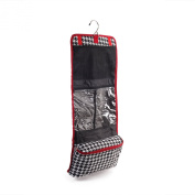 60cm Women's Houndstooth Hanging Cosmetic Bag