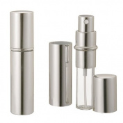 Silver Refillable Travel Size Perfume Bottle Spray, 12ml .41oz