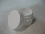 Lip Balm Containers - 5ml White Plastic Lip Balm Jars w/lids, 12 Pack