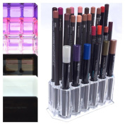 Acrylic Eye/Lip Liner Organiser & Beauty Care Holder Provides 26 Space Storage | byAlegory