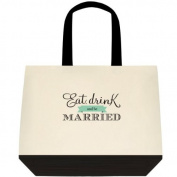 """Eat, Drink & Be Married"" Wedding Bride Tote Bag"