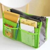 KLOUD City ® 6 Colours Nylon Travel Handbag Pouch / Bag in Bag / Insert Organiser / Cosmetic Pocket / Makeup Bag / Tidy Bag plus KLOUD City Cleaning Cloth
