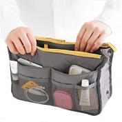 TinkSky Portable Multi-function Nylon Bag In Bag Handbag Cosmetic Storage Bag Organiser Travel Bag Pouch