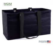 "MDM Large Utility Tote Bag, Organiser, Laundry Bag ""Black & Black"""