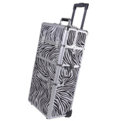 2in1 Aluminium Rolling Cosmetic Makeup Artist Train Case Hair Style 100cm Lock Box