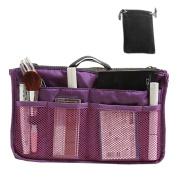 Hoxis Nylon Handbag Insert Comestic Gadget Purse Organiser
