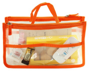 Hoxis @Transparent Bag in Bag Insert Comestic Gadget Purse Organiser with Free Hoxis Gift Pouch