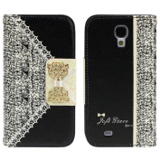 Towallmark(TM)Black Cute Flip Wallet Leather Case Cover for for  for  for Samsung   Galaxy S4 i9500