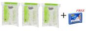 Organic Essentials Cotton Balls,organic (Pack of 3) + BONUS FREE Q-Tips Cotton Swabs Purse, Travel Size
