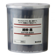 MoMa Muji Cotton Buds 200pcs inside Black Colour