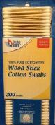 Wood Stick Cotton Swabs 300 Ct Each