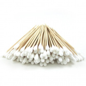 200 Pc Cotton Swab Applicator Q-tip Swabs 15cm Extra Long Wood Handle Sturdy New !