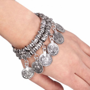 Lowpricenice(TM)Hot Turkish Jewellery Bohemian Ethnic Vintage Silver Coin Bracelet Anklet