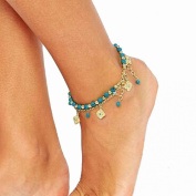 Lowpricenice(TM)Women Bohemian Beach Turquoise Barefoot Sandal Foot Jewellery Anklet Chain