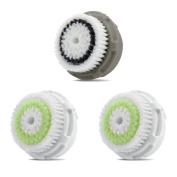 Facial Brush Heads, Greeninsync(TM) Compatible Replacement Facial Cleaning Brush Heads 3Pack 2Acne+1Normal for Mia, Alpha Fit, Mia Fit, Mia 2, Mia3, Aria, Smart Profile, Plus and Radiance
