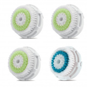 Replacement Brush Head Acne Cleansing 3 Pack and Deep Cleaning 1 Pack