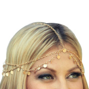 Binmer(TM)Fashion Women Metal Head Chain Jewellery Headband Head Piece Hair band