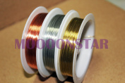 3x25m(0.3mm)/1 Roll Copper Wire Craft Wire Bead Wrap Jewellery-Gold Sliver Bronze