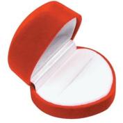 Red Heart Shaped Velvet Ring Jewellery Gift Box