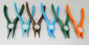 NYLON PLIERS SET 6 PLASTIC NON MARRING PLIERS VARIOUS SHAPES HAND TOOLS CRAFTS