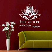 Wall Decals Rule Your Mind or it Will Rule You Buddha Quotes Lotus Meditation Yoga Bedroom Living Vinyl Decal Sticker Home Decor ML144