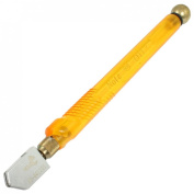 Uxcell a12052400ux0037 Plastic Handle Oil Feed Carbide Wheel Blade Glass Cutter, Orange