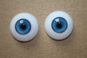"1 Pair Half Round Acrylic Doll Eyes Eyeballs 22mm Suit for 20""-22"" Reborn Baby Dolls"