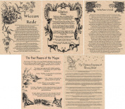 5 Book of Shadows Pages or Wicca Posters