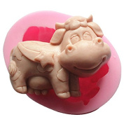Lingmoldshop Taurus Cow Craft Art Silicone Soap mould DIY Candy mould Craft Moulds Handmade Candle moulds