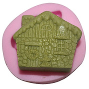 Lingmoldshop Small house Craft Art Silicone Soap mould DIY Candy mould Craft Moulds Handmade Candle moulds