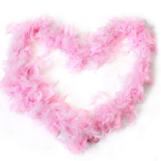 New 2M Fluffy Feather Boa Strip Fancy Makeup Party Wedding Xmas Decoration Pink
