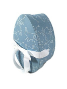 Hudson Paper Co. Decorative Egg Shaped Gift Box Blue With Bunnies