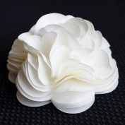 Self Adhesive Ivory White Tissue Paper Flower Bow for Gift Wrapping & Decor - 16cm Diameter