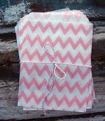 Pink Chevron Paper Treat Bags -