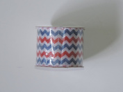 Happy Stars and Stripes 6.4cm . x 2.7m Decorative Red, White and Blue Patriotic Ribbon - Great for 4th of July!