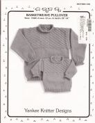 Yankee Knitter Designs Knitting Pattern #28 Basketweave Pullover for Children & Adults