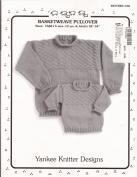 Yankee Knitter Designs Knitting Pattern #28 Basketweave Pullover for Children & Adults