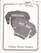 Yankee Knitter Designs Knitting Pattern #15 Women's Heart Sweater in Pullover & Cardigan