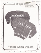 Yankee Knitter Designs Knitting Pattern #15 Women's Heart Sweater in Pullover & Cardigan