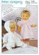 Baby DK Double Knitting Pattern for Premature Babies & Doll's Outfits Jacket Leggings Dress